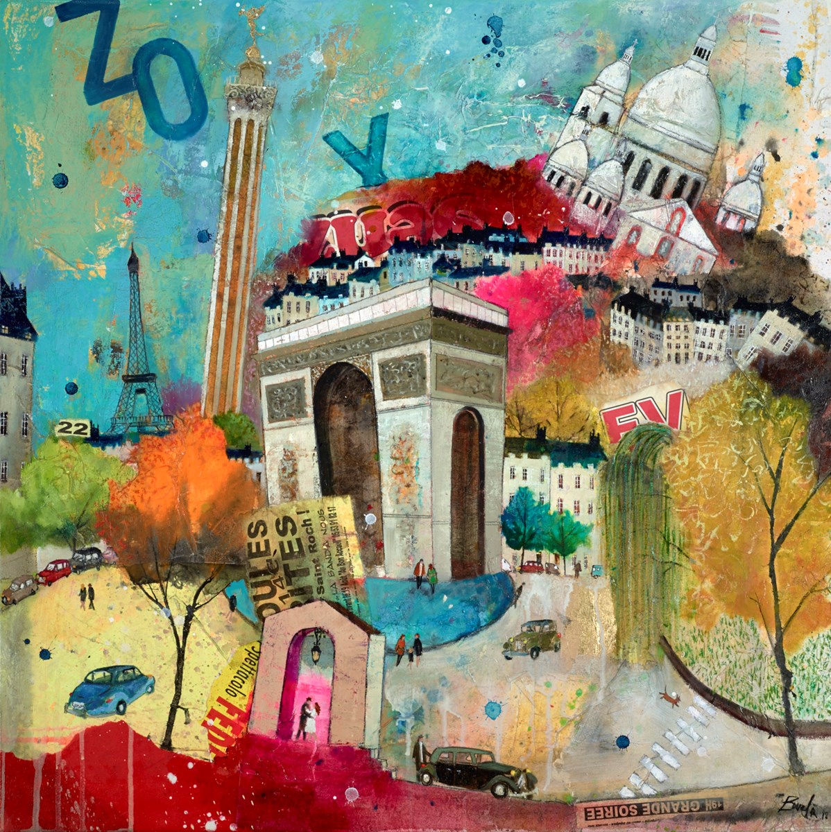 Rendez-Vous, Paris by richard burel -  sized 32x32 inches. Available from Whitewall Galleries